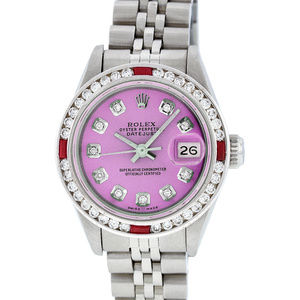 Rolex Ladies Datejust Pink Diamond Watch